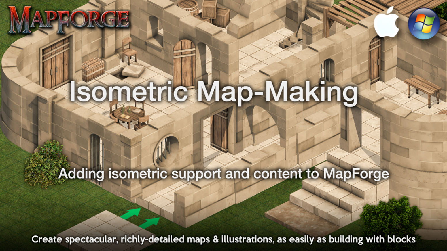 Developing new features to support isometric mapping in MapForge AND creating a wealth of top-notch isometric mapping content Add-Ons