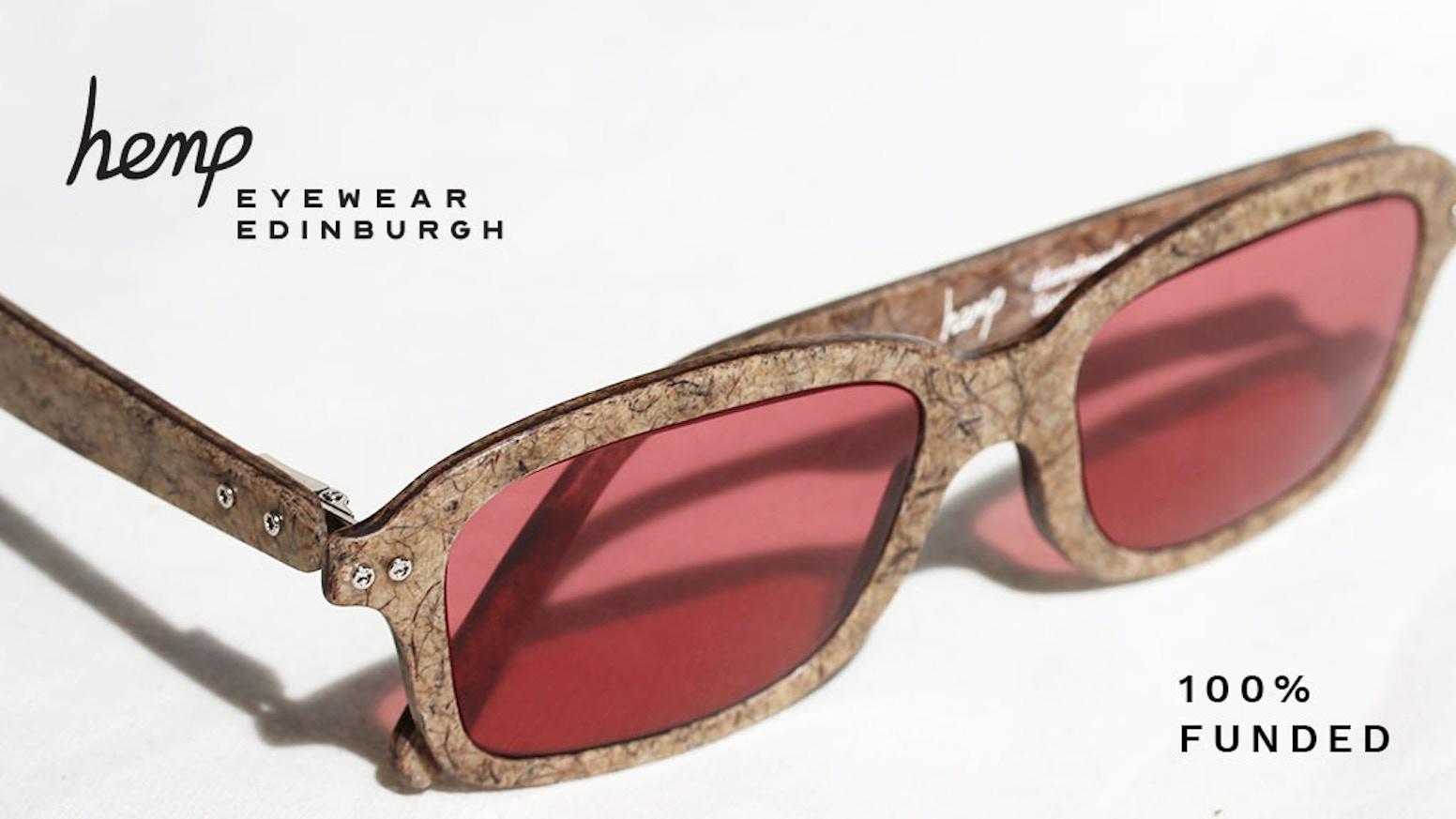 Handcrafted from hemp fibre and water, Hemp Eyewear is the ideal alternative to harmful plastics