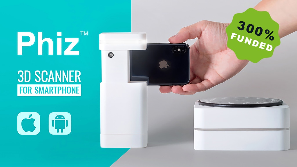 Phiz: Affordable 3D scanner on smartphone or laptop project video thumbnail