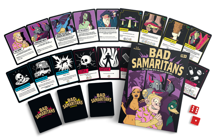 When duty calls, the worst of the worst respond to save the day! The Bad Samaritans Comic Style card game is here!