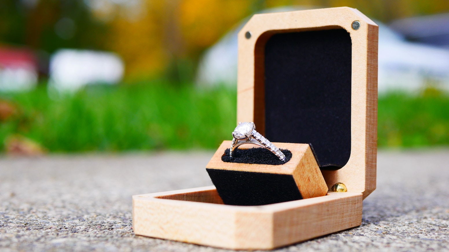 Slim Wood Engagement Ring Box by Olive Grove Woodworking » Ring in the  holidays with a ring box! — Kickstarter