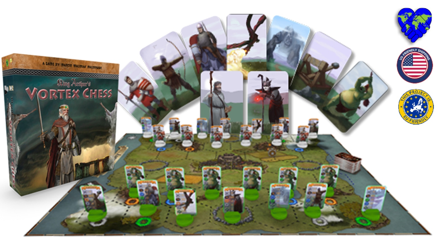 Vortex Chess is a tactical Chess-like game, set in Arthurian Mythology. Merlin Ambrosius defending Camelot against Medraut ap Lot.