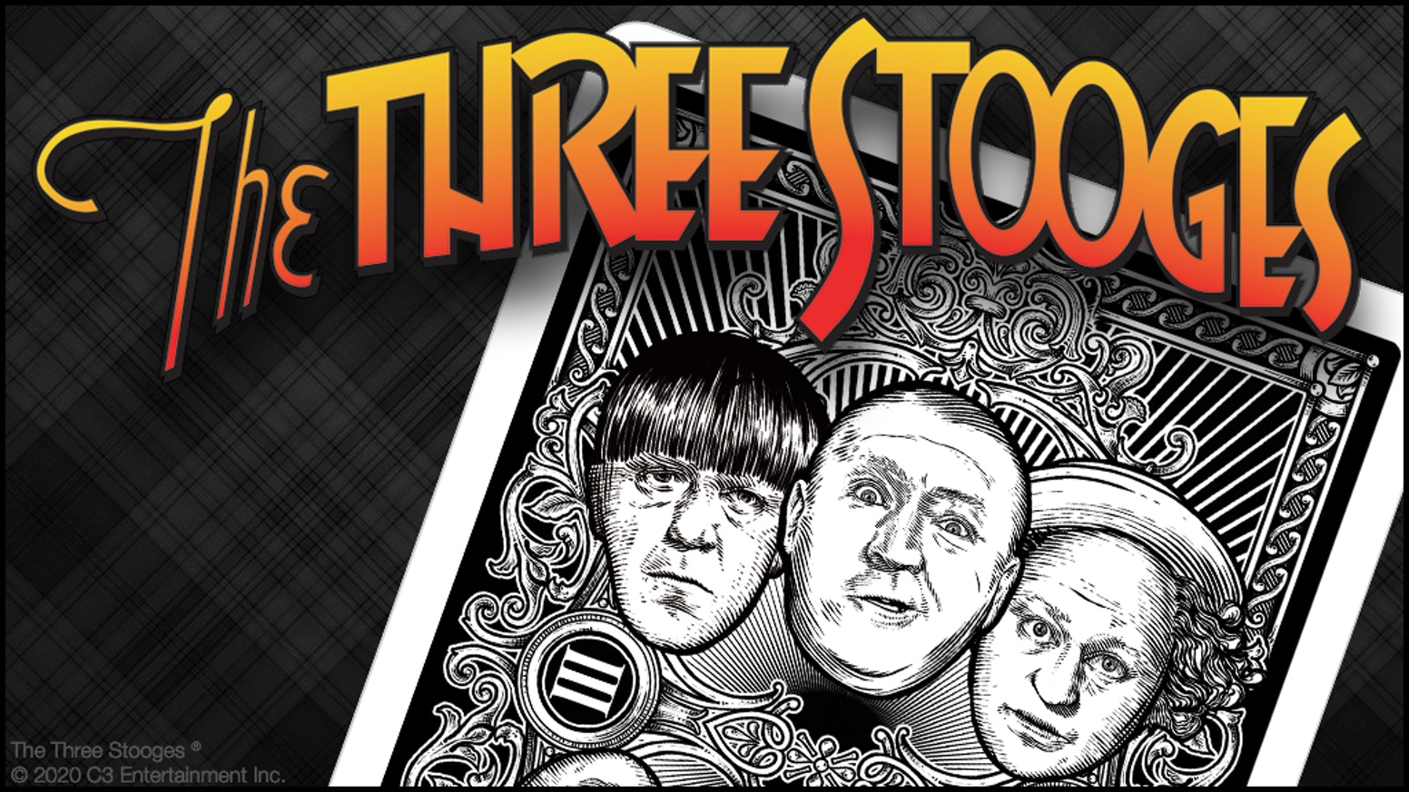 A deck of officially licensed, collectable playing cards commemorating comedy film & TV legends The Three Stooges® printed in the USA.