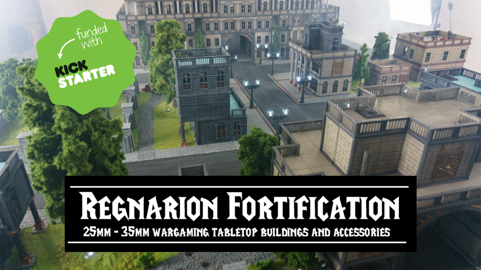 25mm - 28mm - 32mm - 35mm 'Regnarion Fortification' wargaming tabletop buildings and accessories