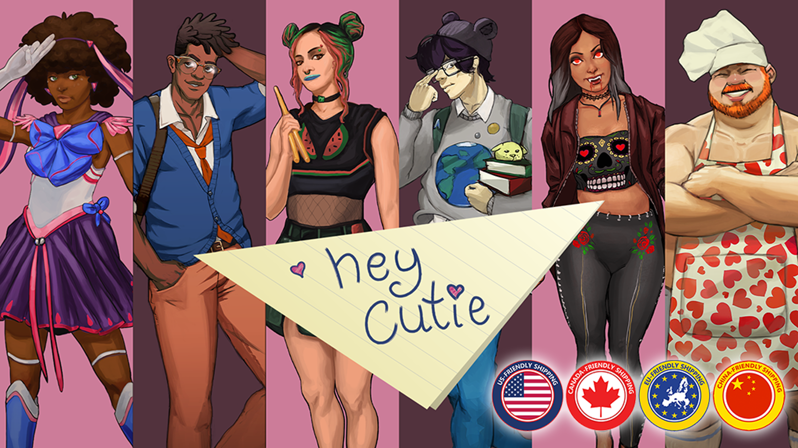 Crush on vampires, woo sexy cyborgs, and sabotage your opponents' love lives in this quirky card game.