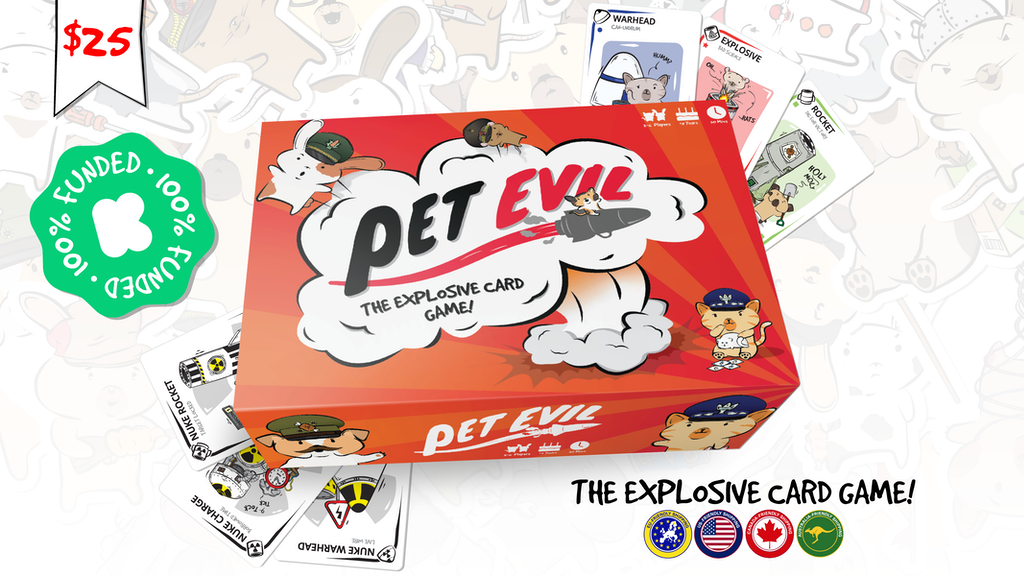 Pet Evil - The Explosive Card Game project video thumbnail