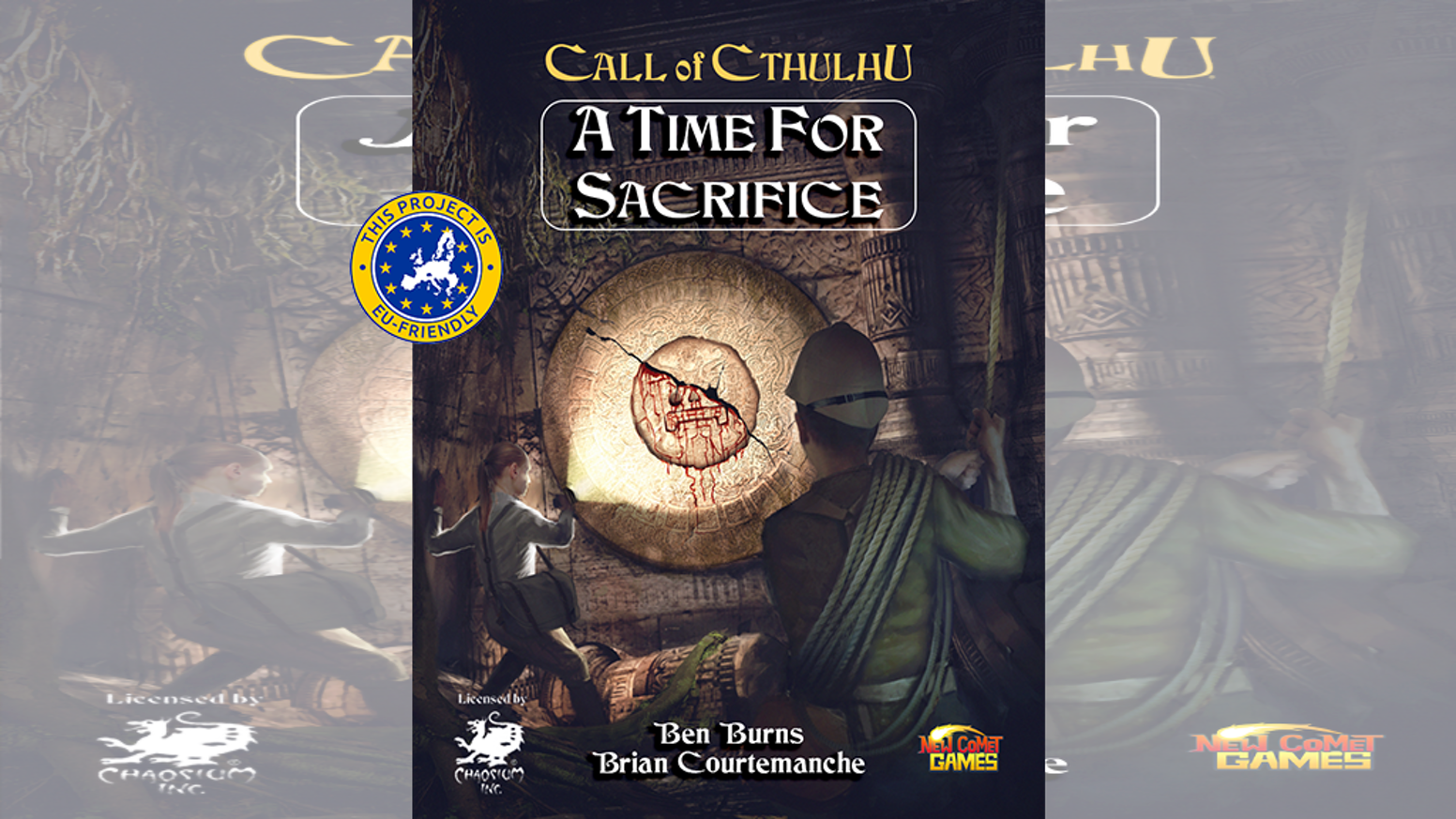"""""""A Time For Sacrifice"""" is a Call of Cthulhu 7th edition adventure book set in Central/South America in the classic 1920's time era."""