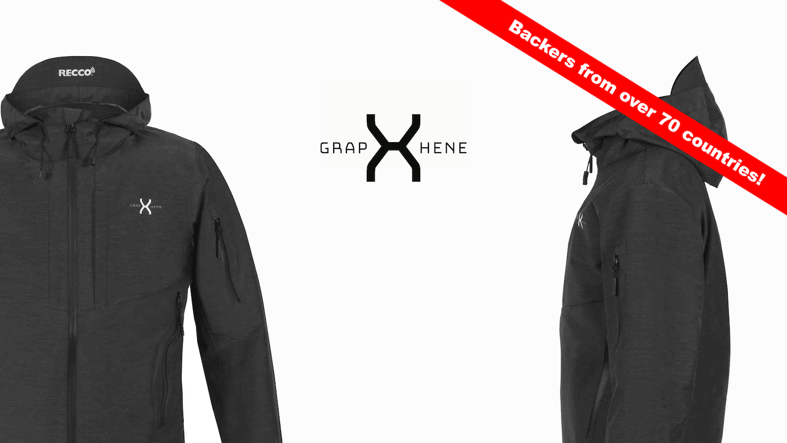 An all-around graphene-based 3-layer jacket: Breathable, Waterproof, Ultralight & Durable + state-of-the-art technology.