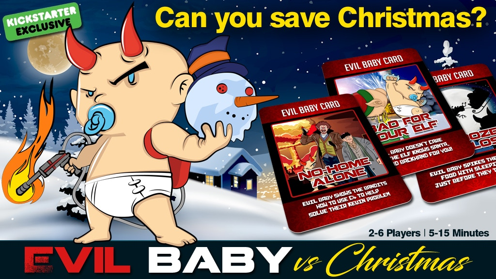 Evil Baby VS Christmas project video thumbnail