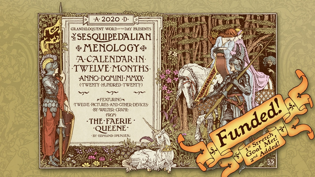 Grandiloquent Word of the Day - 2020 Wall Calendar project video thumbnail