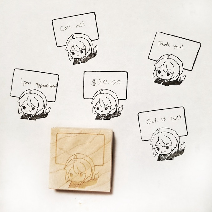 Cute Characters Rubber Stamp Collection