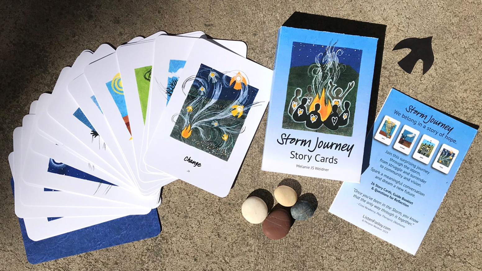We belong in a story of hope. Join this surprising journey through storm, from struggle and surrender to community and vision. Spark a meaningful conversation and dream a new future. (26 Story Cards, Guide Booklet, & Conversation Questions.)