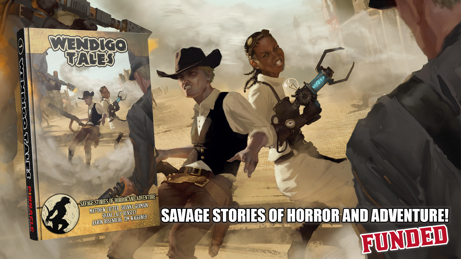 Stories of horror and adventure by today's top authors, set in Pinnacle's Savage Worlds!