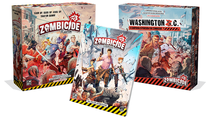Zombicide is back! New art, new minis, new expansions with new gameplay! And, on top of everything else, a Roleplaying Game!