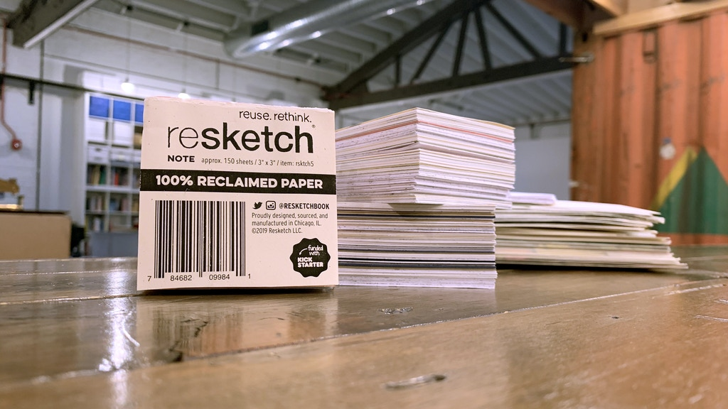 Resketch Note - eco-friendly scratch paper project video thumbnail