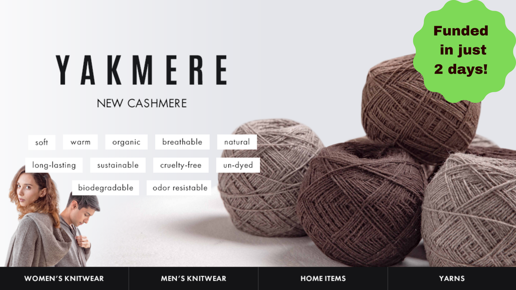 Yakmere the new cashmere 2.0 project video thumbnail