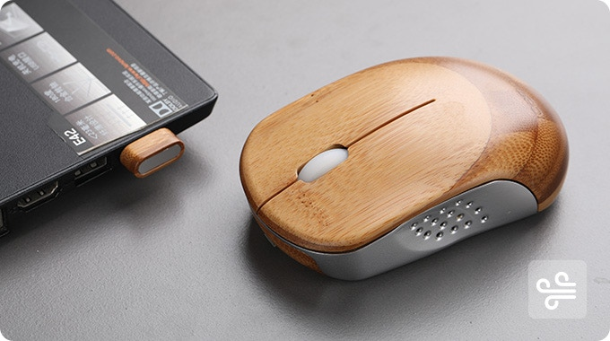Ice Mouse: A Breathable Bamboo Mouse With Natural Touch By
