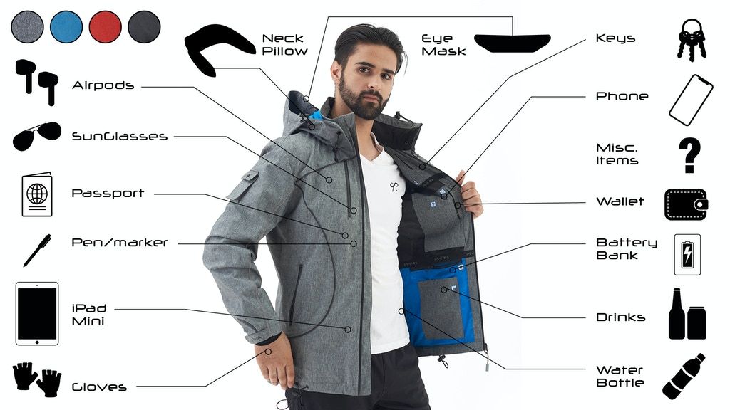 Alpha Jacket - Travel features without sacrificing fashion project video thumbnail
