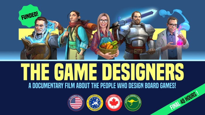 A documentary film about the people who design board games!
