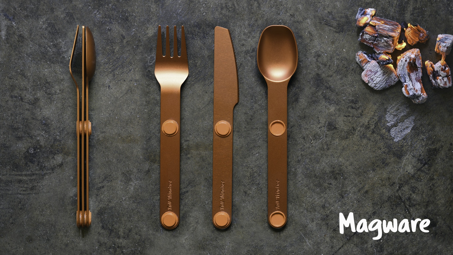 Light weight modular utensil sets that keep you organized.