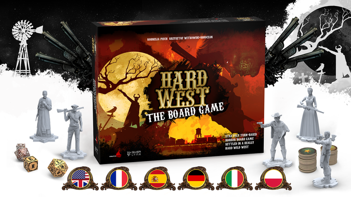 A horror strategy board game settled in the old Wild West for 1-6 players. Build a unique three-dimensional town for each scenario.
