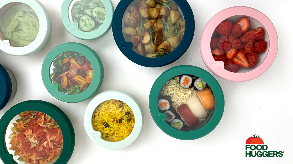 Food Huggers Lids - A New Way to Love Your Leftovers project video thumbnail