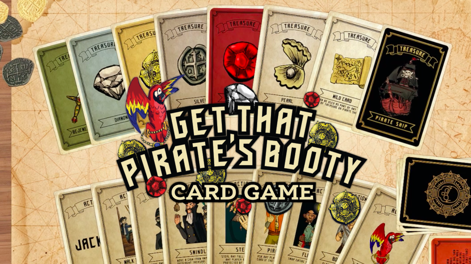 Get That Pirate's Booty is a card game of theft, trickery, and sabotage plus some pirate ships! This game will become one of your family favorites. Weren't able to back our kickstarter. Check out our website to pre-order today!