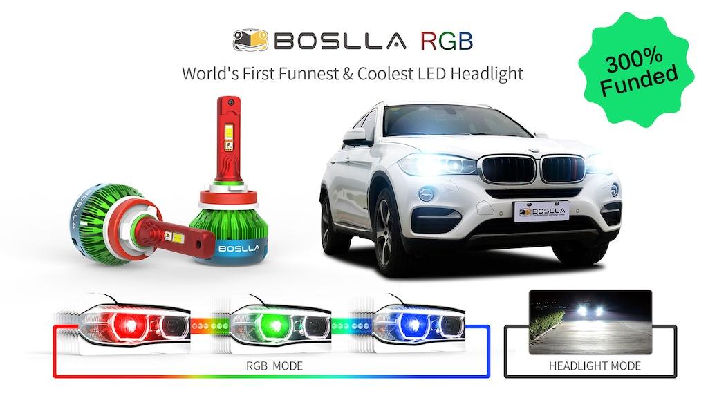 Boslla RGB - World's First Funnest & Coolest LED Headlight project video thumbnail