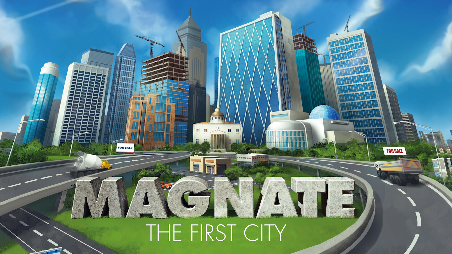 Magnate is an exciting property/city building strategy game for 1-5 players. Make as much money as you can before the market crashes!