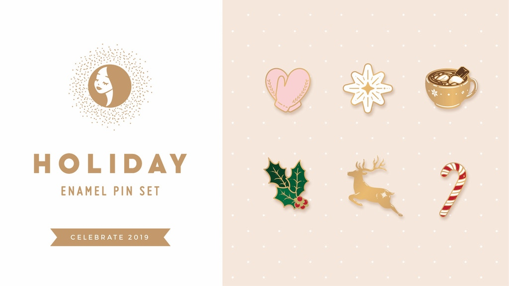 Project image for Holiday Enamel Pin Sets
