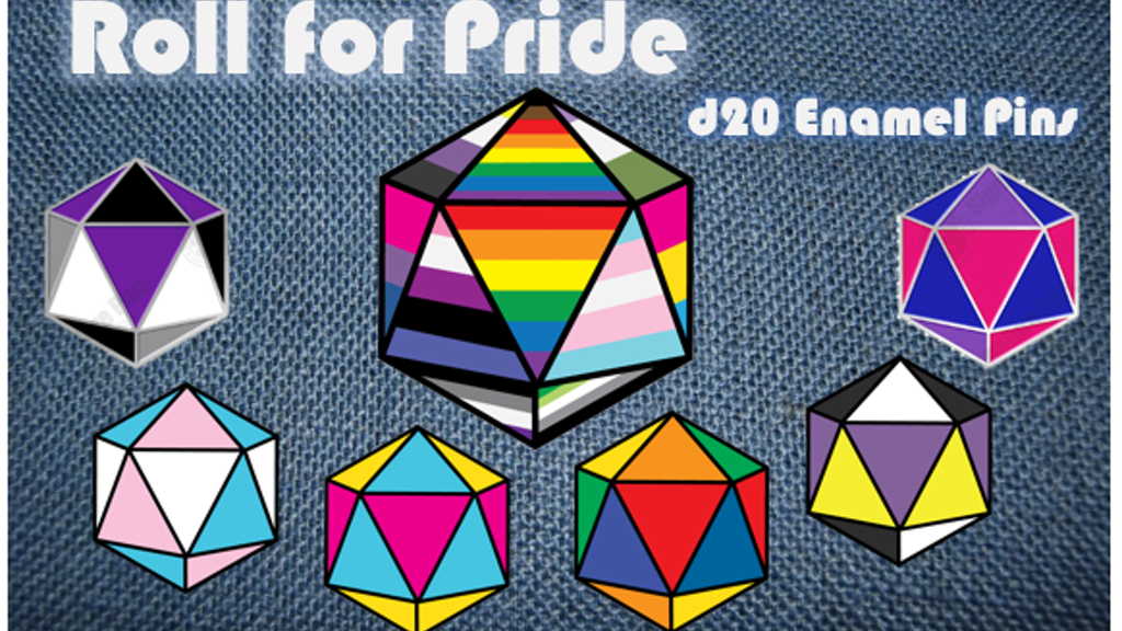 Project image for Roll for Pride: d20 Enamel Pins Collection