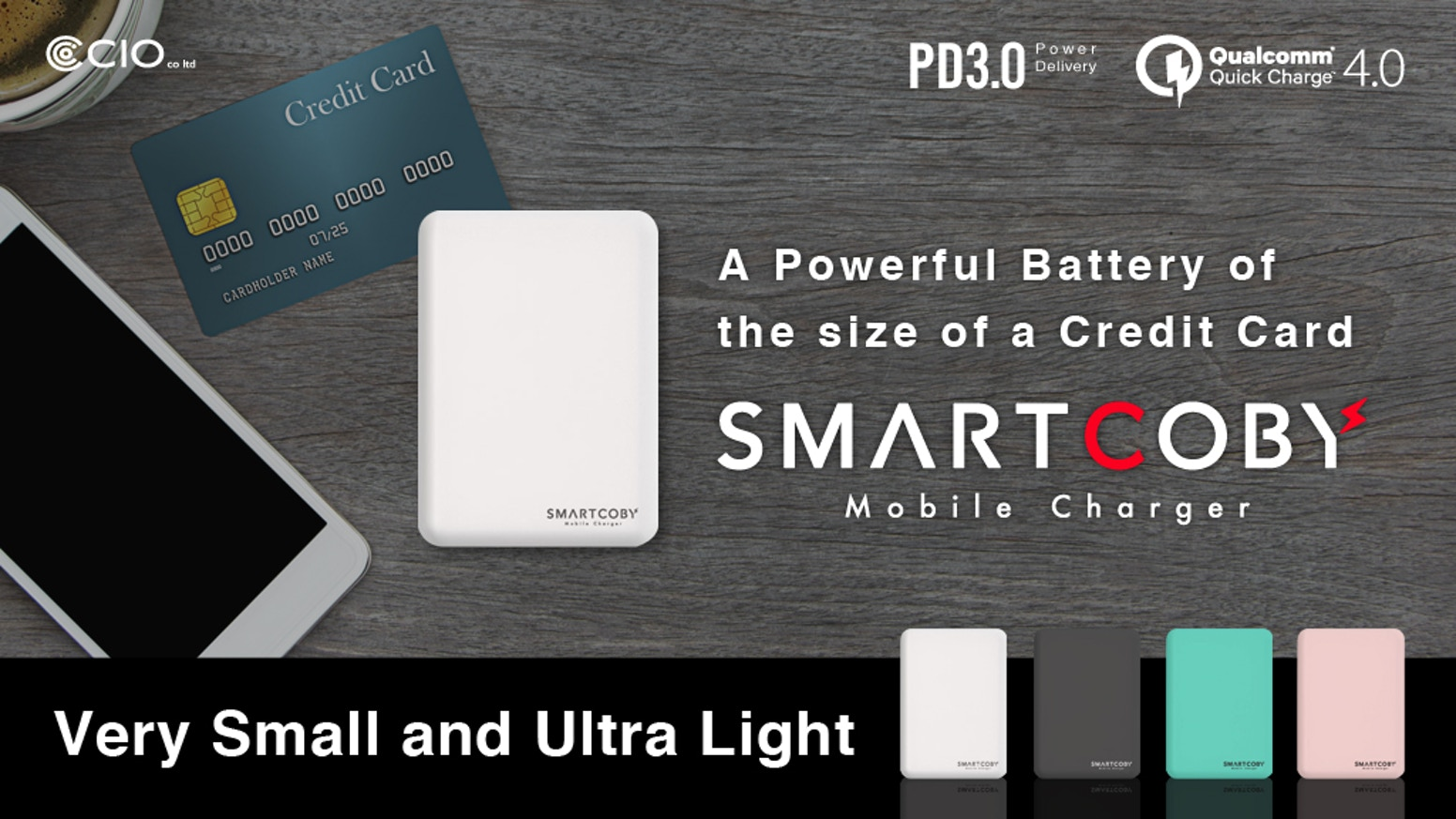 Conquering the challenge of creating the world's smallest and lightest power bank, we've designed a business card-sized battery.