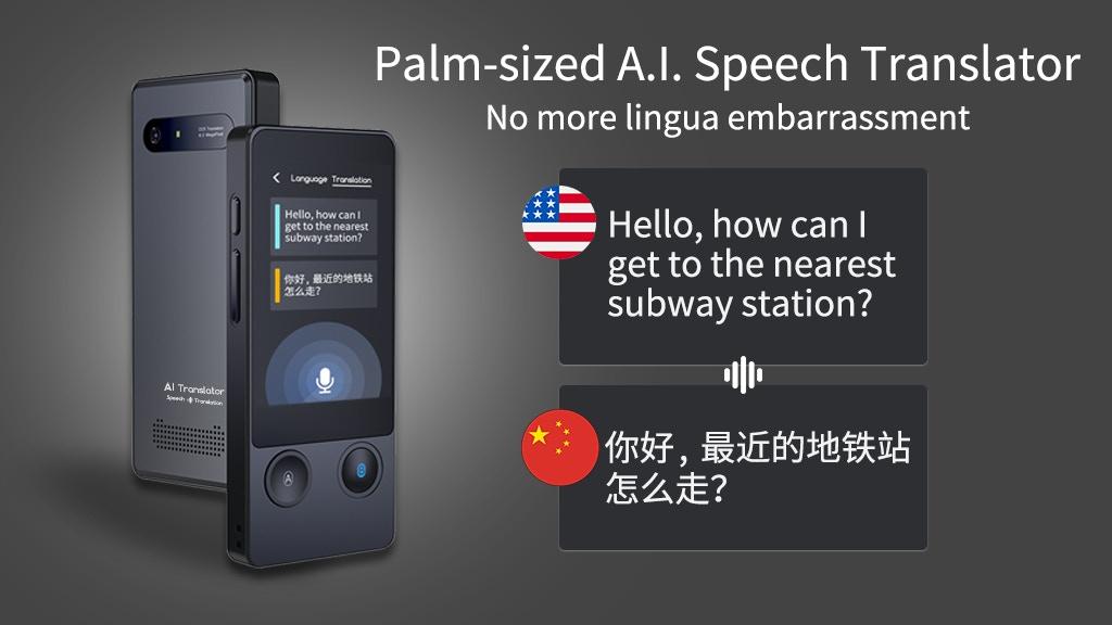 Wooask AI Translator, Palm-sized travel companion project video thumbnail