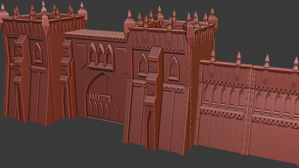 Project image for Super Quick Print Sci Fi Gothic 3d Printable Terrain
