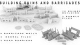 3d printable terrain - building ruins and barricades thumbnail