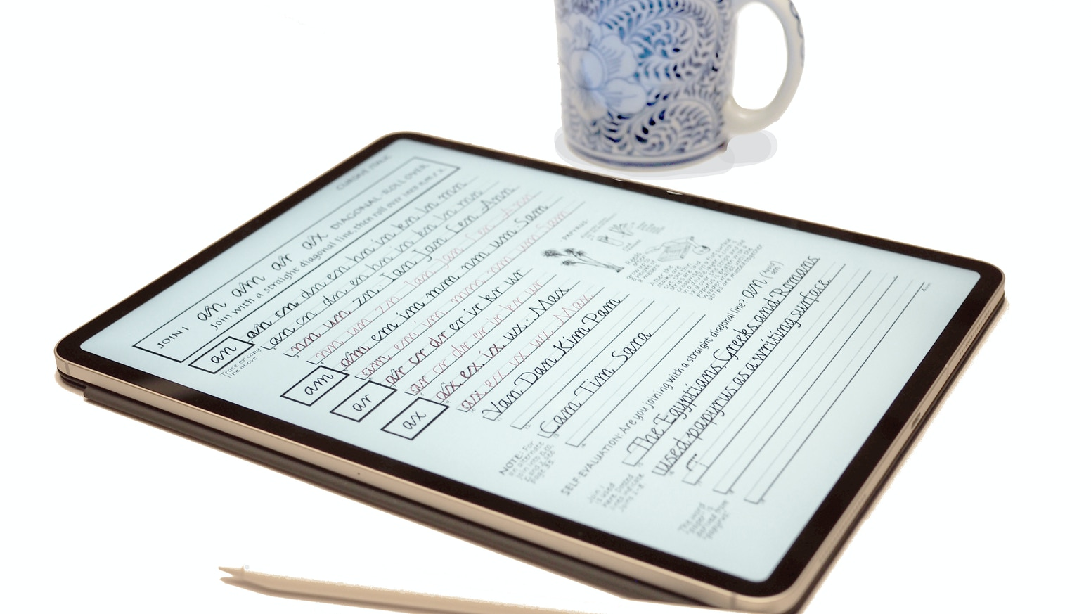 Make your tablet and stylus your tools to better handwriting.
