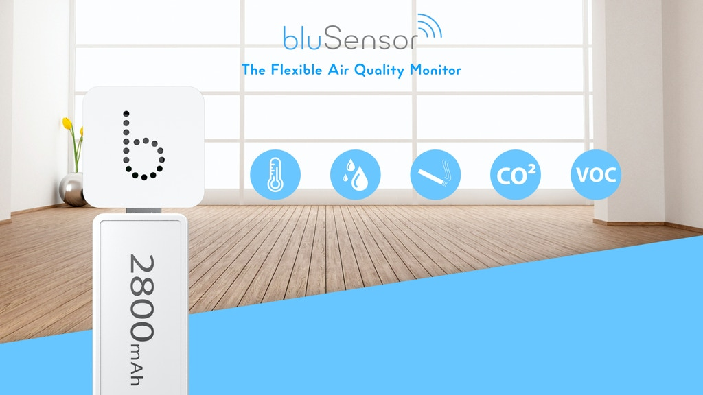 bluSensor® AIQ - The Flexible Air Quality Monitor project video thumbnail