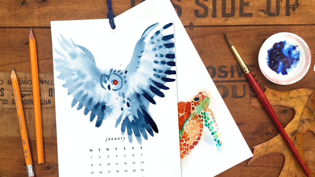 Spirit Untamed: A 2020 Watercolor Calendar project video thumbnail