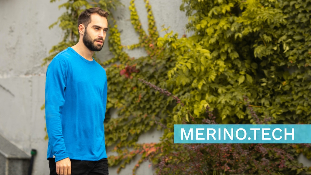 Merino.Tech | Organic Merino Wool Long Sleeve T-shirt