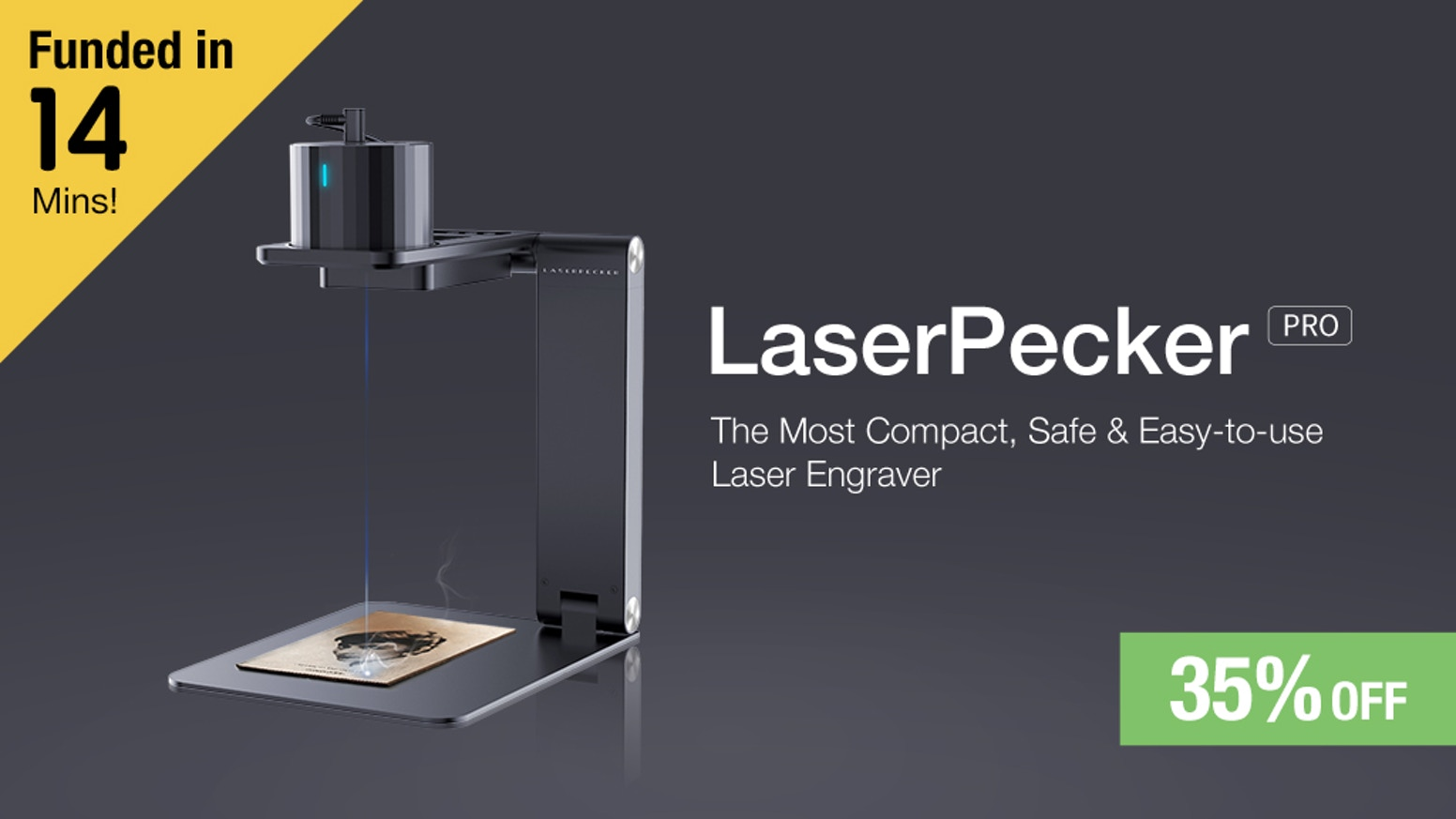 Compact, Safe & Easy-to-use ​Laser Engraver