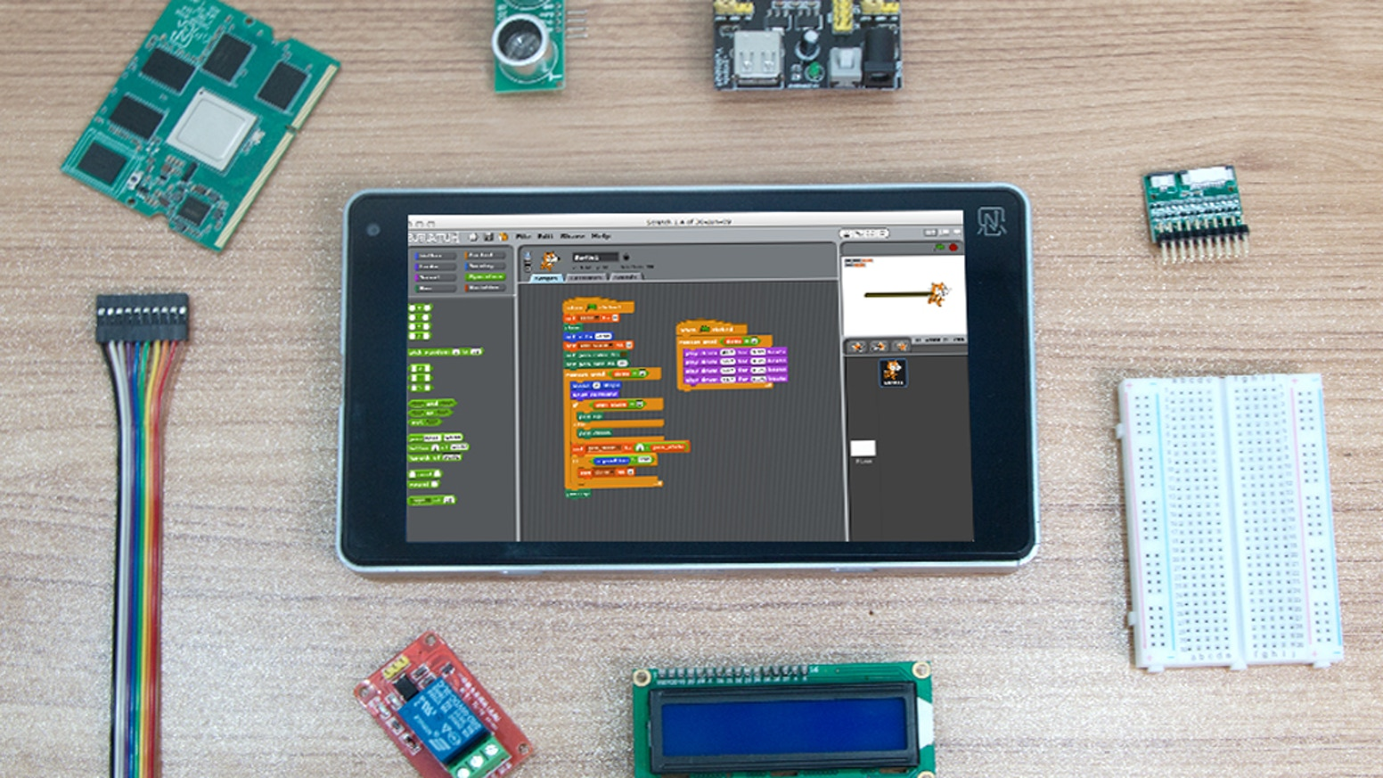 Ntablet is World 1st Commercial Open-source Tablet. Targeted at anyone who wants an all-in-one hobbyist device for creative projects.