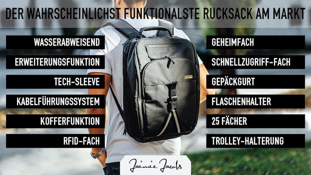 Smarter Rucksack für urbanen Lifestyle project video thumbnail