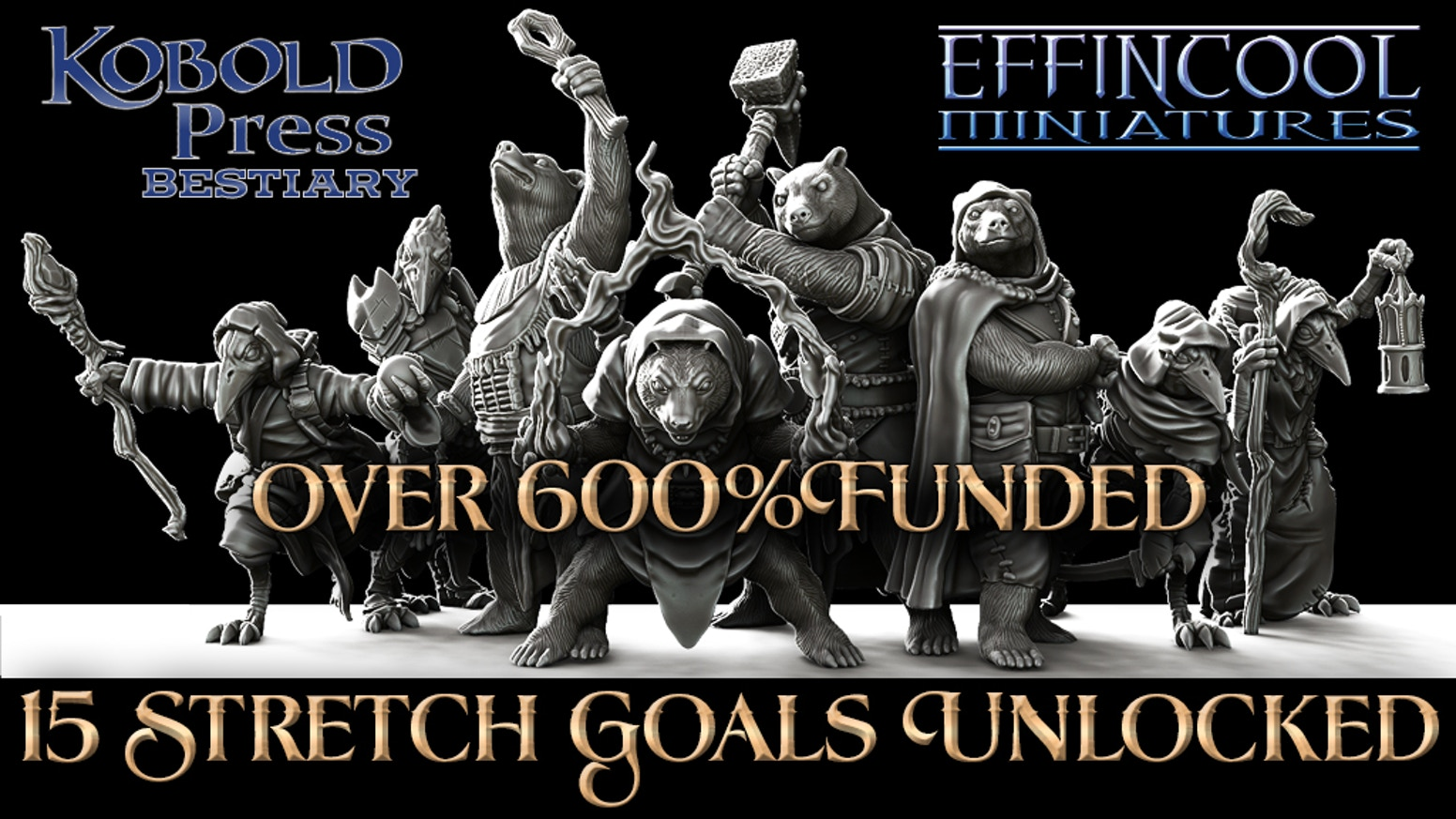 100% Lead Free Pewter Ravenfolk and Bearfolk Miniatures