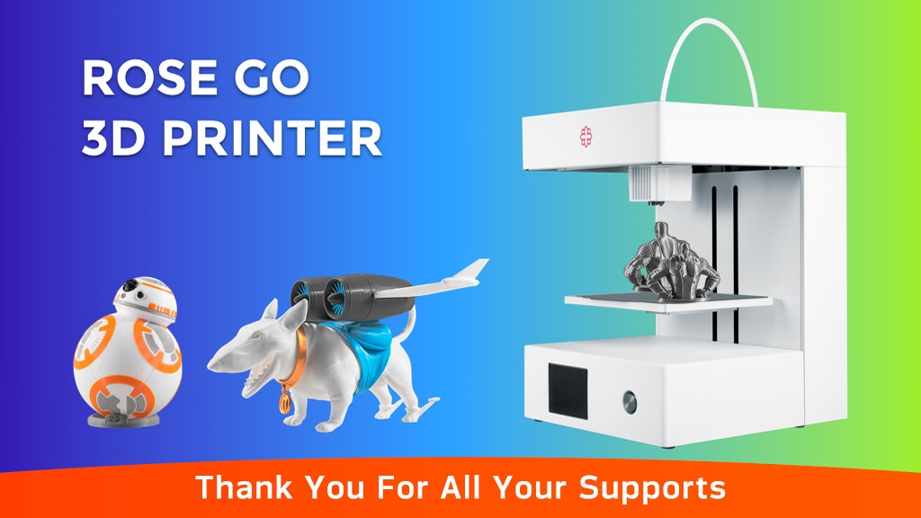 Rose Go, the FDM 3D printer delivers Resin-Quality project video thumbnail