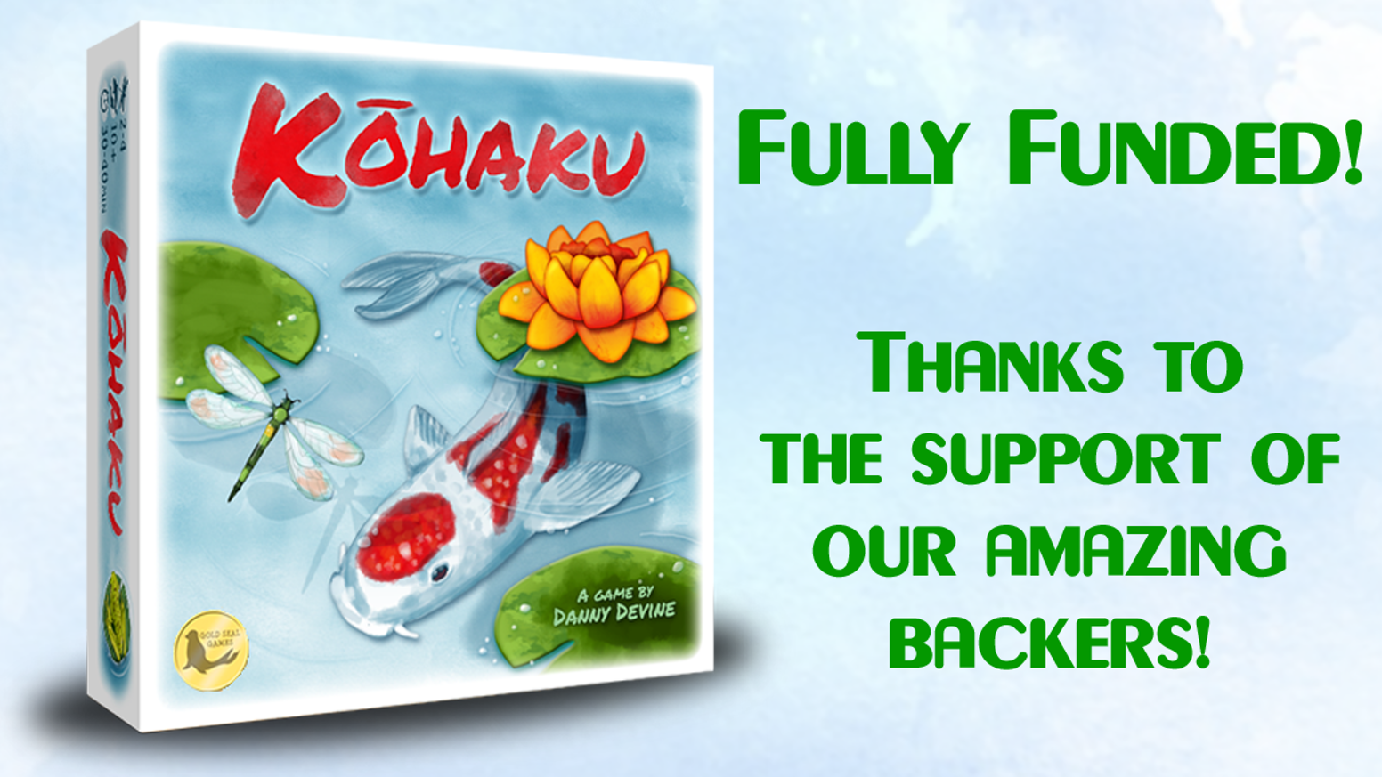 Create the most beautiful koi pond! A peaceful tile-laying game for 1-4 players by Danny Devine.