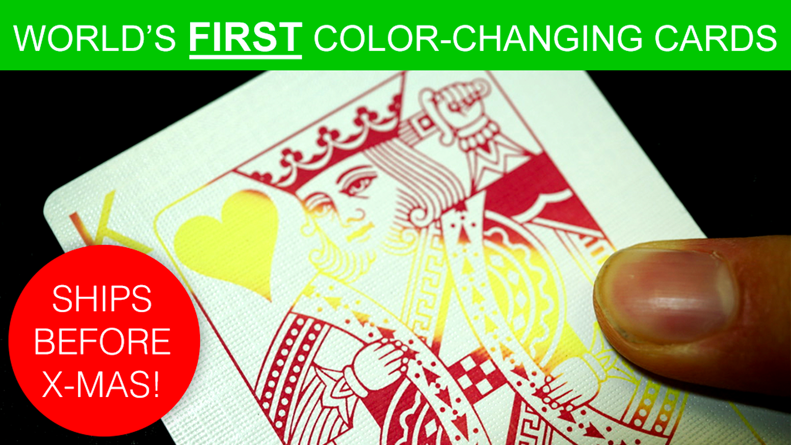 (Fully Playable) Body-heat activated Color-Changing Playing Cards