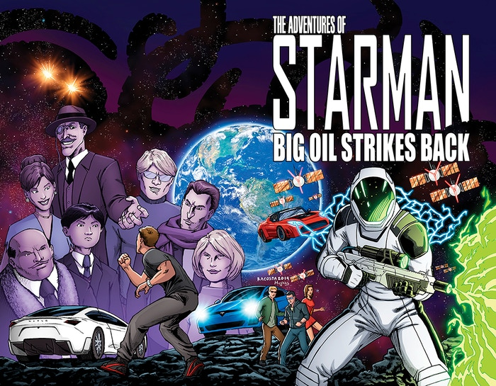 Episode 2 of The Adventures of Starman picks up on earth where the automakers and big oil have teamed up to try stop the rise of EV's.