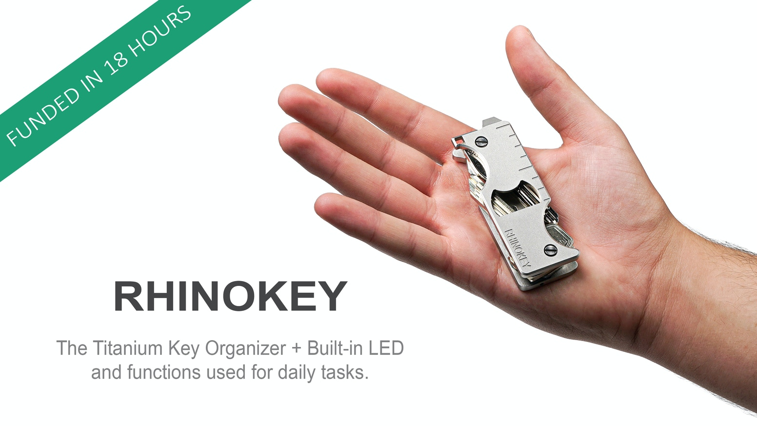 The Titanium versatile Everyday Carry Multitool Key Organizer with a built-in LED Flashlight and functions used for daily tasks.