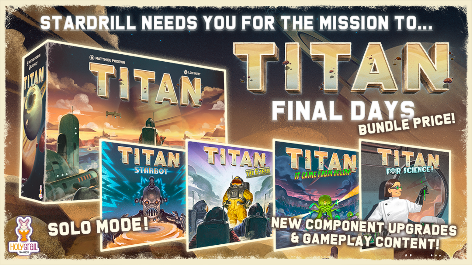Strip mine Titan in this exciting Eurogame featuring a fabulous 3D board!