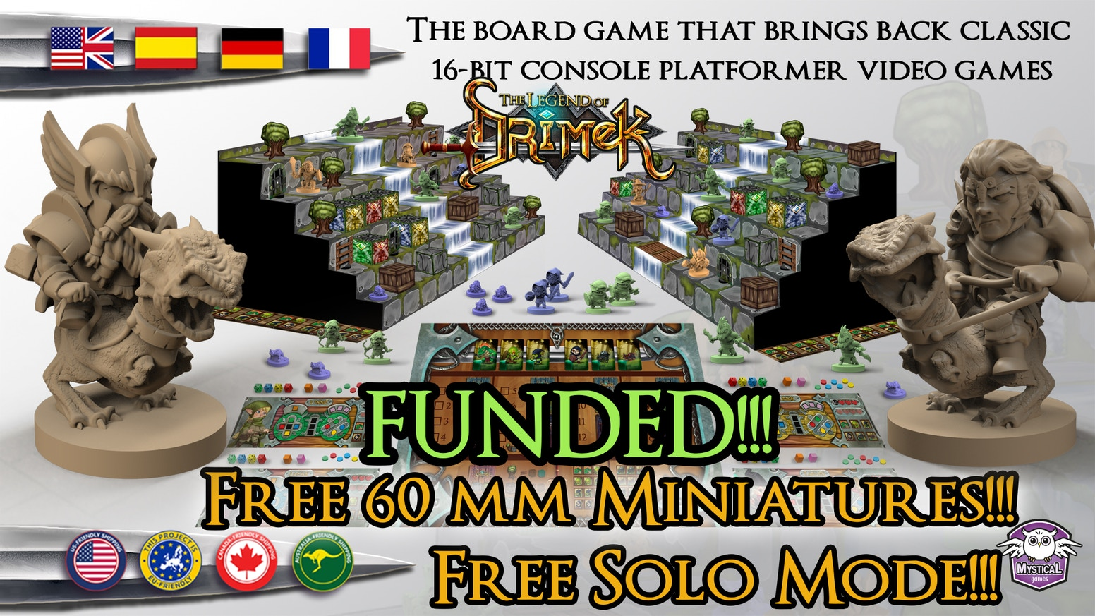 The board game that brings back classic 16-bit console platformer video games.